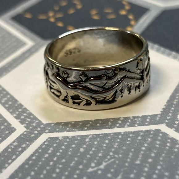 NEW Silver Mens Statement Ring